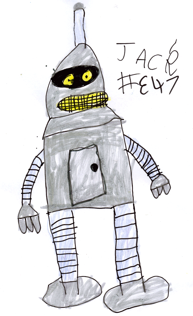 Bender the robot (from Futurama) for Nicola Tann