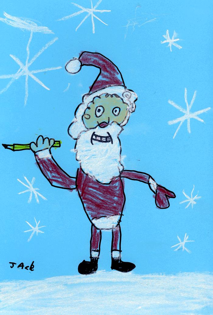 Santa draws anything