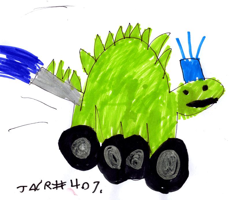 Dinosaur or a Fire Engine for Jacob Benjamin Fraser