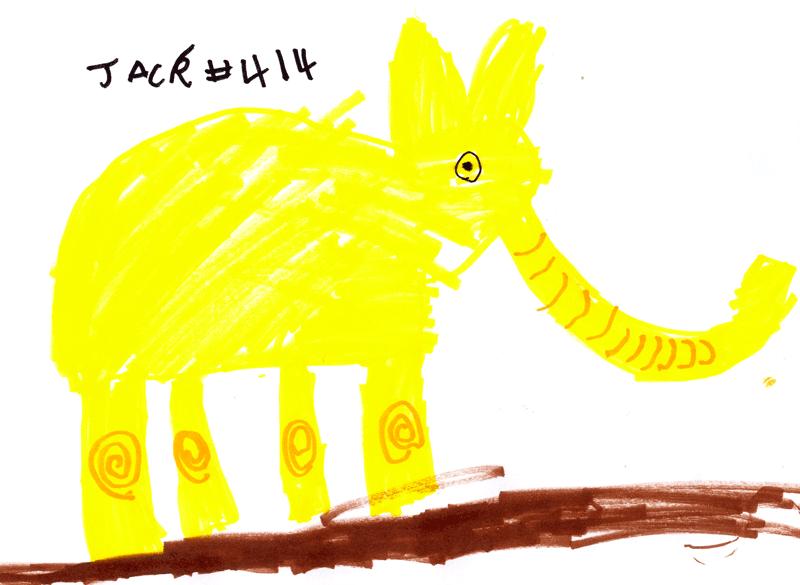 Big yellow elephant for Carl Gaywood