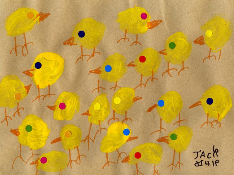 Army of chicks for James Thompson (Caledonian Society of Restigouche)