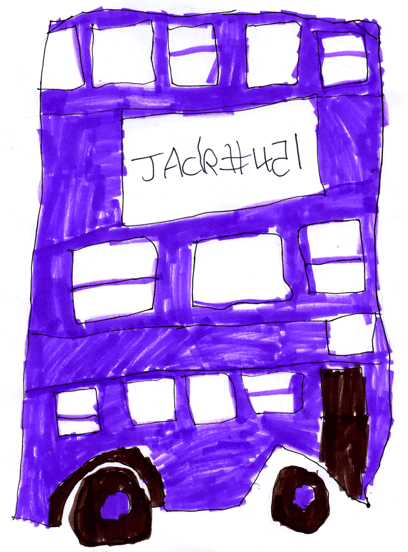 Knight Bus (from Harry Potter and the Prisoner of Azkaban) for Deborah Blue