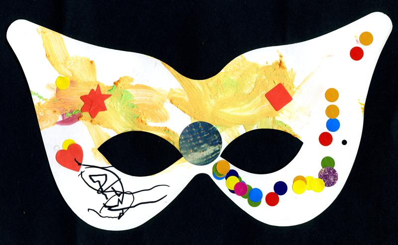 Jack, Toby & Noah draw masks for the Radio Lollipop Masked Ball 2011