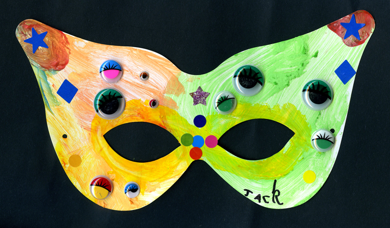 Jack, Toby & Noah draw masks for the Radio Lollipop Masked Ball 2011