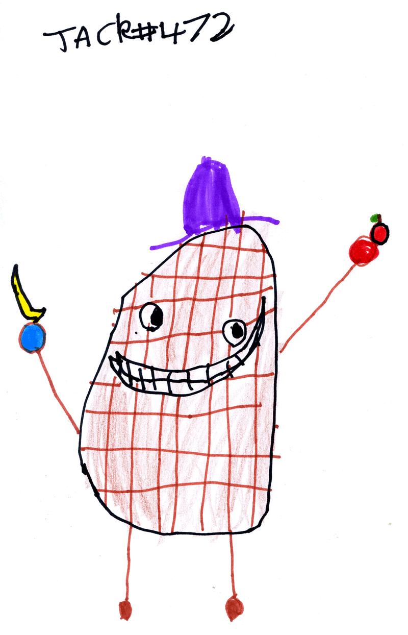 World's healthiest Easter Egg (he eats bananas & apples) for Irene Coulthard
