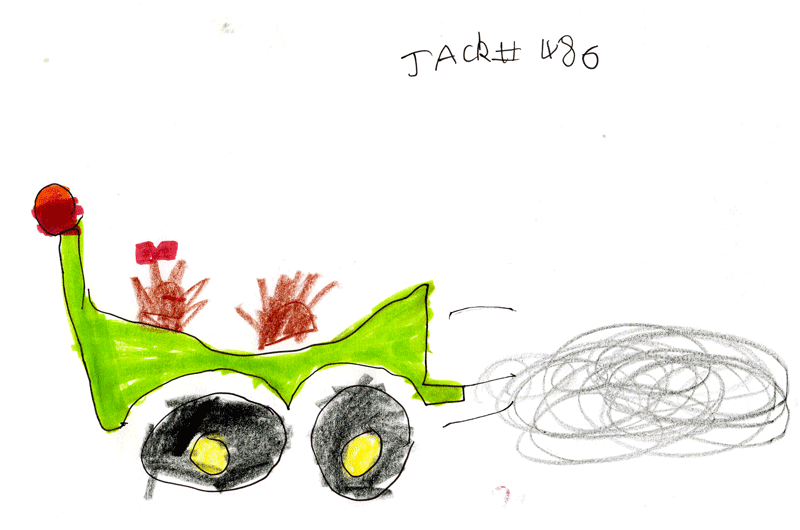 Motorbike, with 1 boy and 1 girl (hedgehog) for Adam Griffield