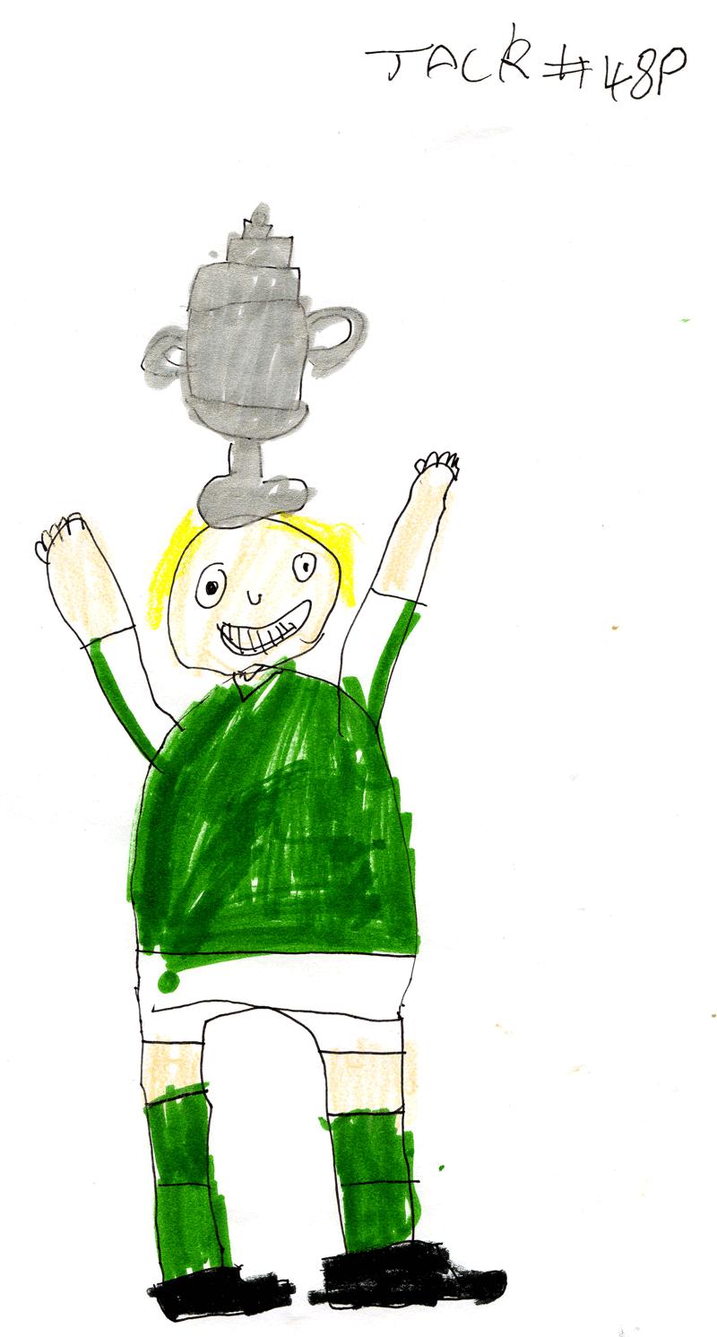Hibs winning the Scottish Cup for Gordon Smith