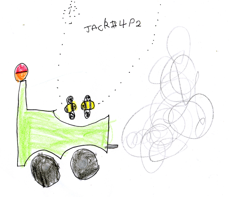 Girl and boy (bumblebees) going for a bicycle ride together for George Ridley