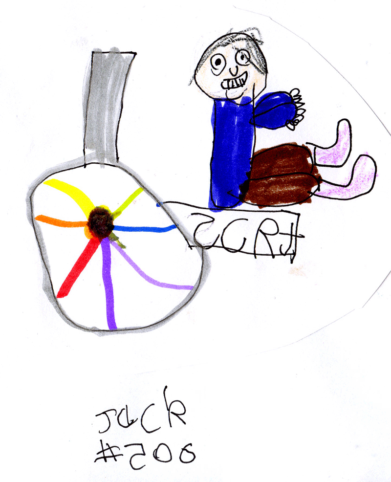 New logo (happy old man in a rainbow wheelchair) for SCRT