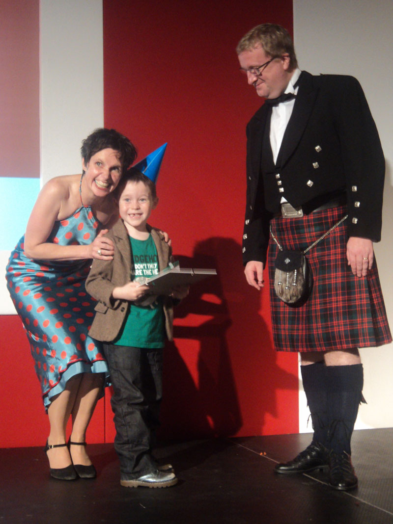 PRESS RELEASE — six–year–old charity artist scoops top award for web fundraising