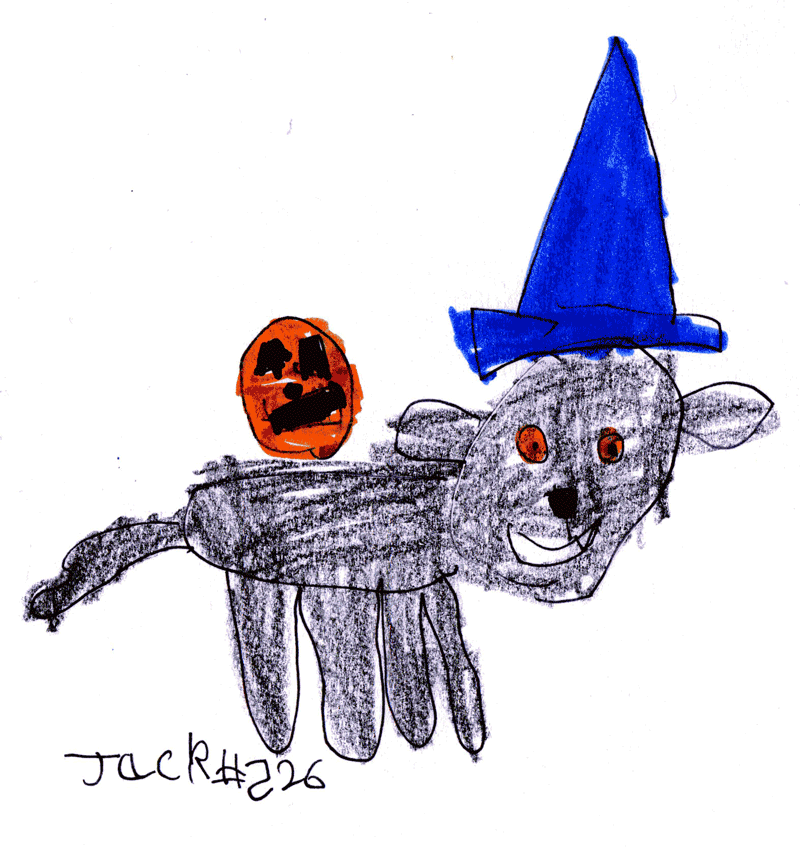 Black Labrador (Happy Halloween) for Julia Grindley