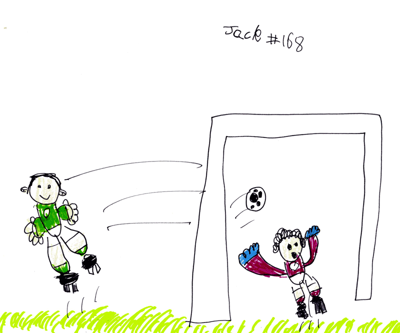 6 year old predicts 1-0 Scottish Cup Final win for Hibs (and swarm of bees) through his art?
