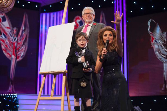 Mistake during Pride of Britain Awards auction of Jack's Rolf Harris artwork