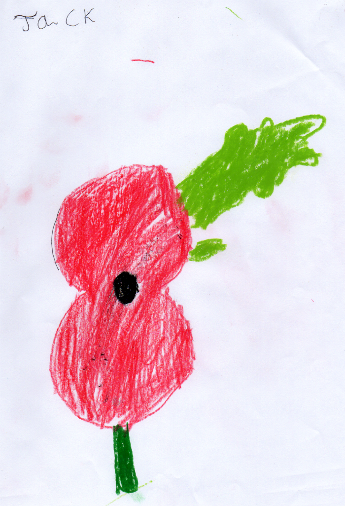 Jack's Poppy for Remembrance Day
