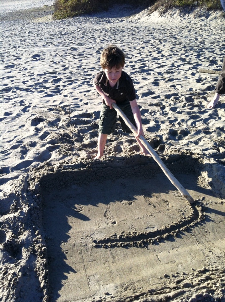 California Jack draws on Stinson Beach