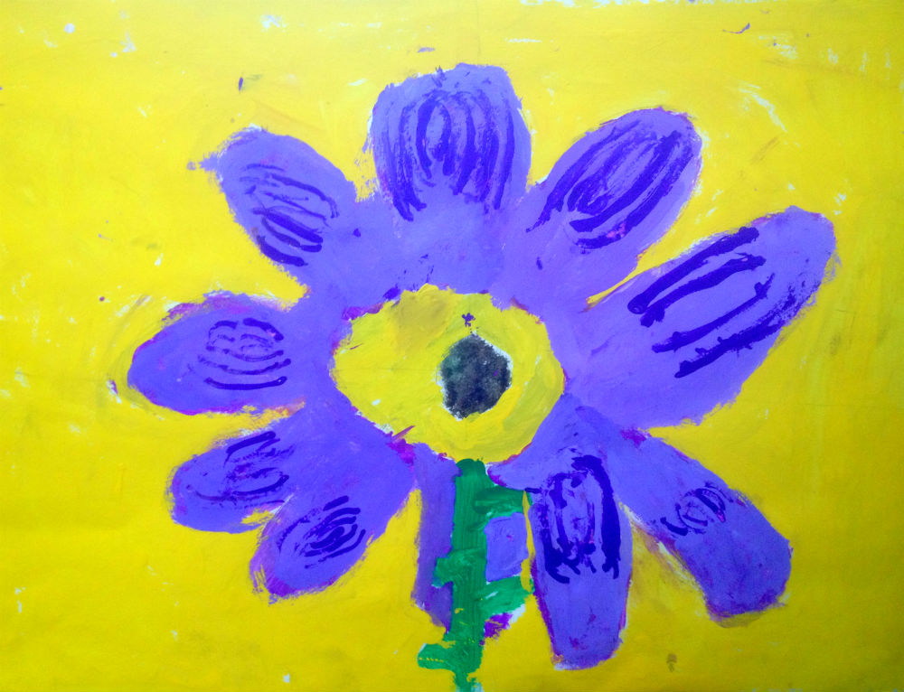 Made–up Purple Flower by Jack Henderson