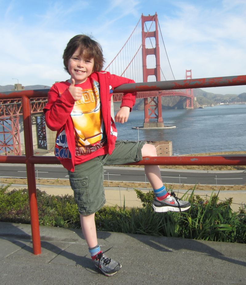 Jack at the Golden Gate Bridge, San Francisco, California, USA