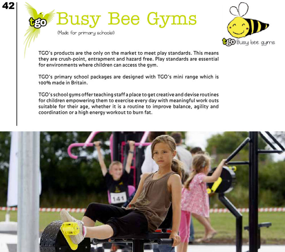 Jack's logo in the wild looking awesome in The Great Outdoor Gym Company 2013 Brochure