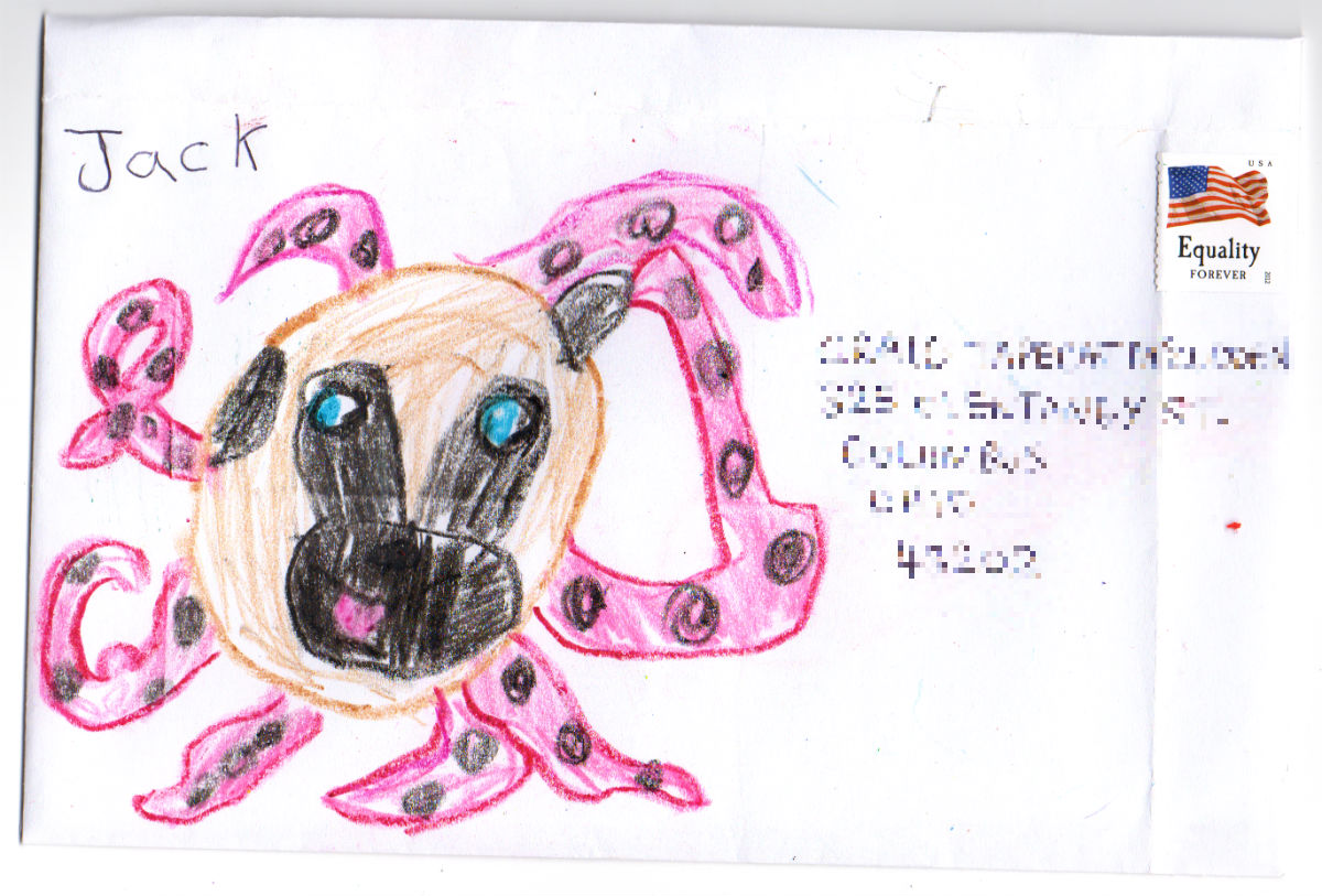 Octopug (Octopus & Pug mash–up) for Craig 'Tapecat' McCudden