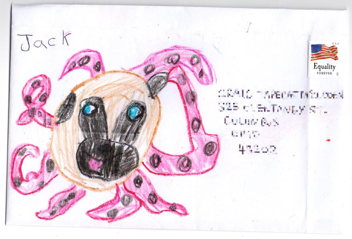 Octopug (Octopus & Pug mash–up) for Craig 'Tapecat' McCudden