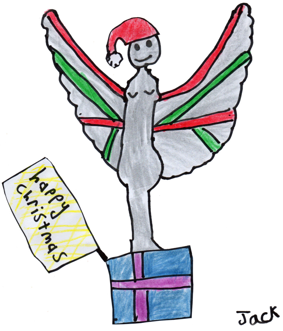 "Jack's ""Christmas Pride of Britain Angel"" Christmas Card"