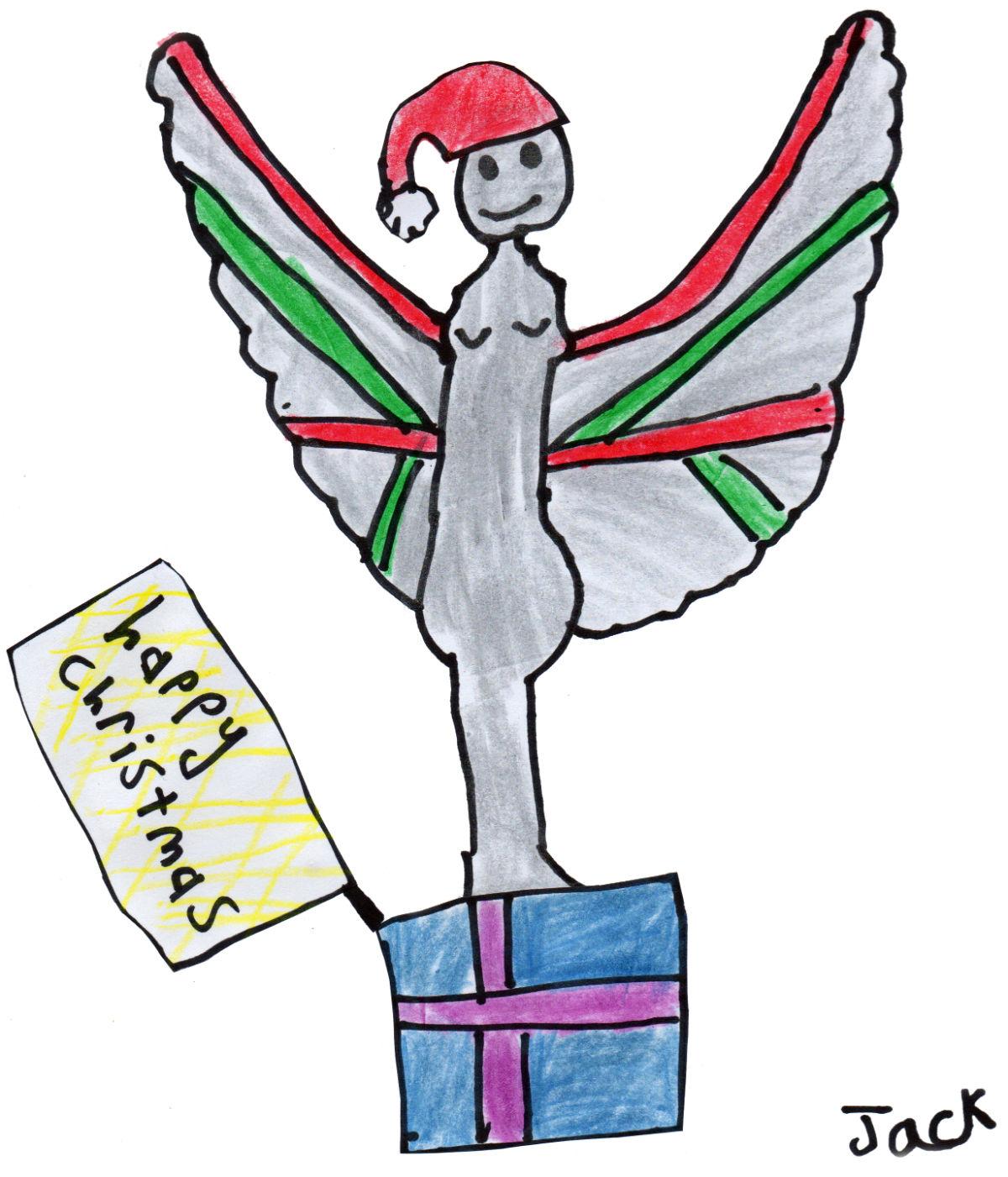"Jack's ""Christmas Pride of Britain Angel"" Christmas Card"