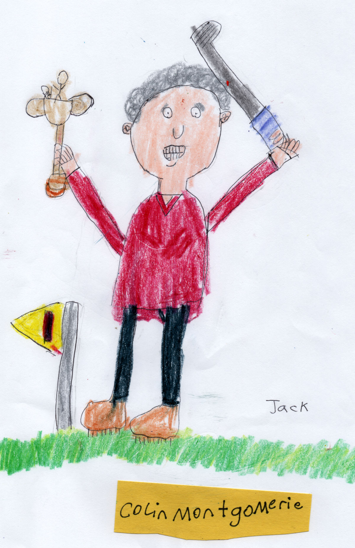 Scottish Golfer — Colin Montgomerie (#1 from Jack's 'Golf Collection')