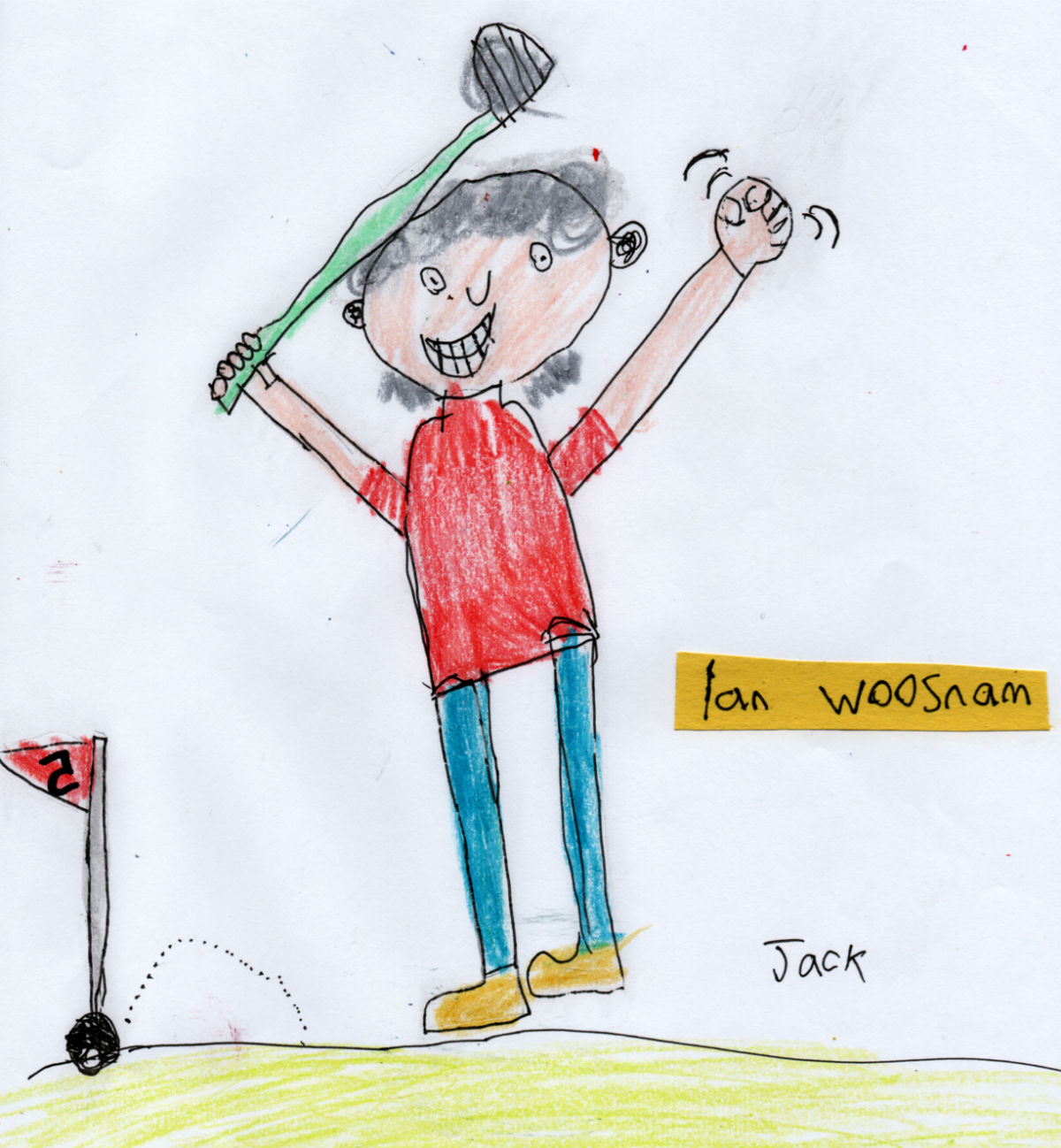 Welsh Golfer — Ian Woosnam (#5 from Jack's 'Golf Collection')