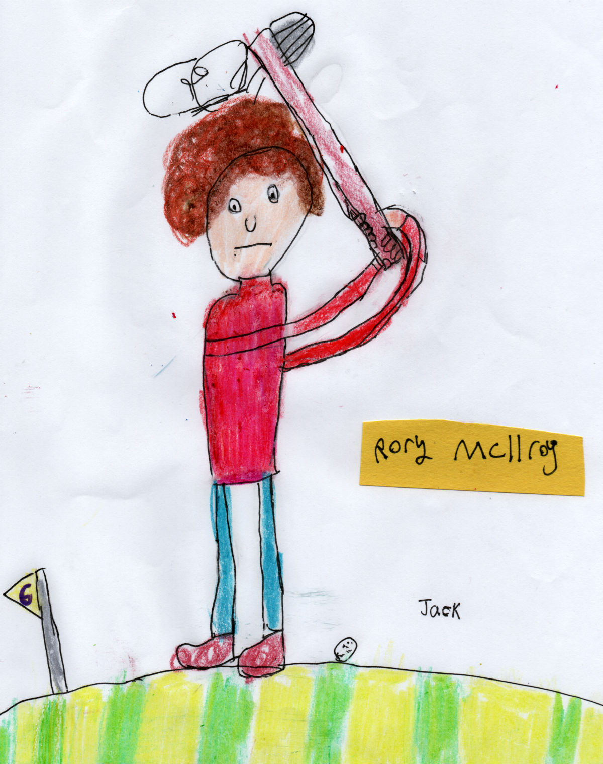 Northern Irish Golfer — Rory McIlroy (#6 from Jack's 'Golf Collection')
