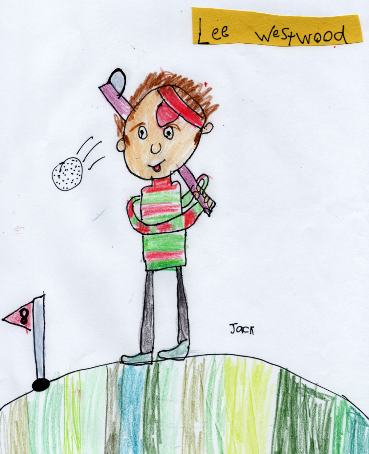 English Golfer — Lee Westwood (#8 from Jack's 'Golf Collection')