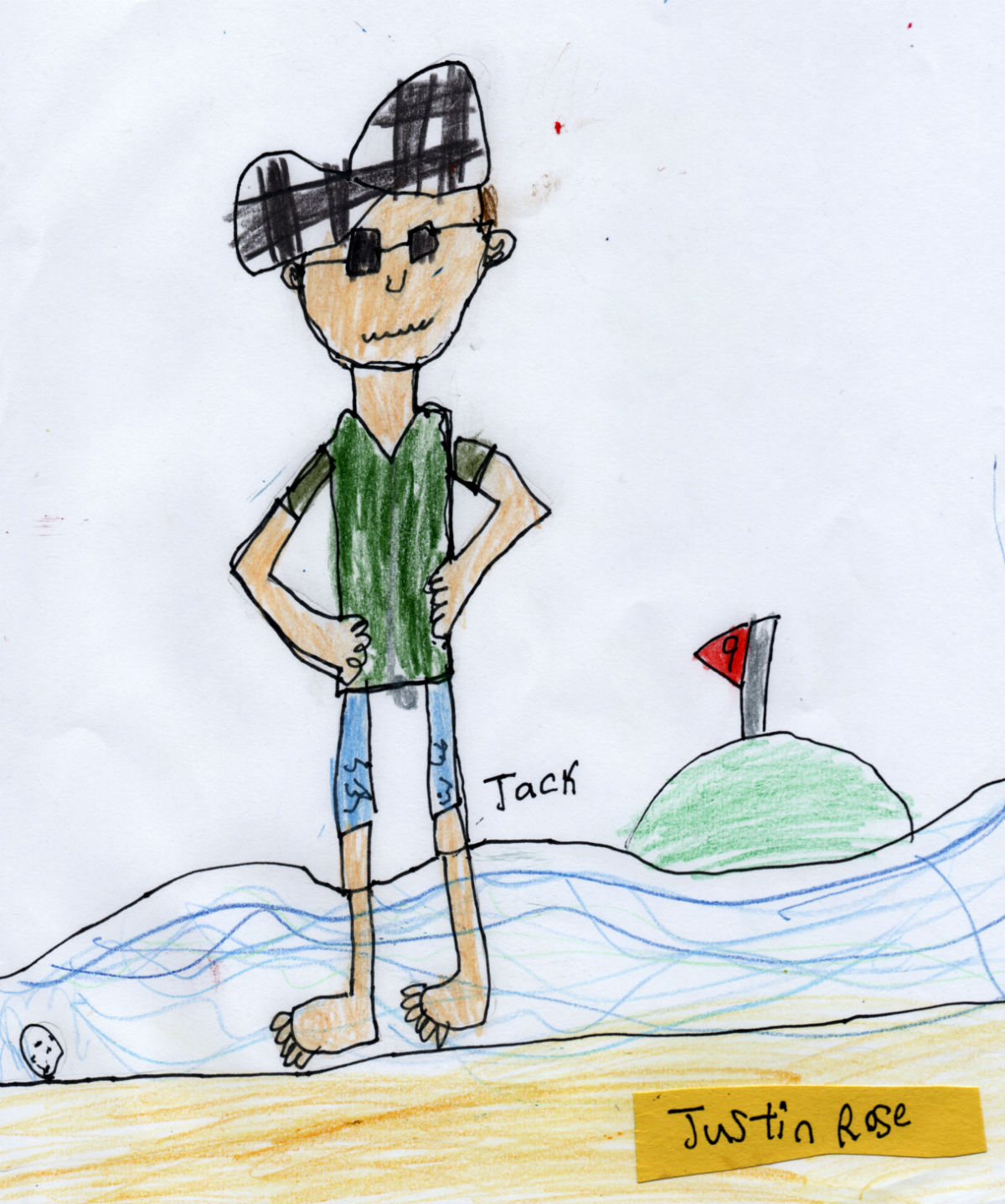 English Golfer — Justin Rose (#9 from Jack's 'Golf Collection')