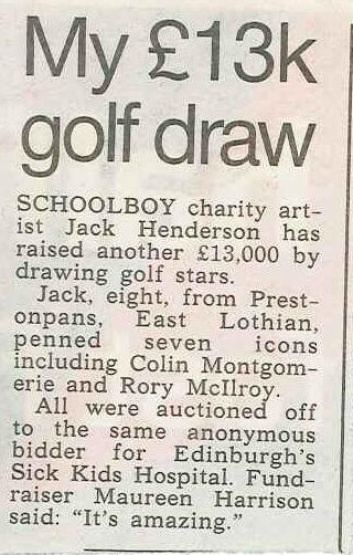 My £13k golf draw — The Scottish Sun (16 October 2013)
