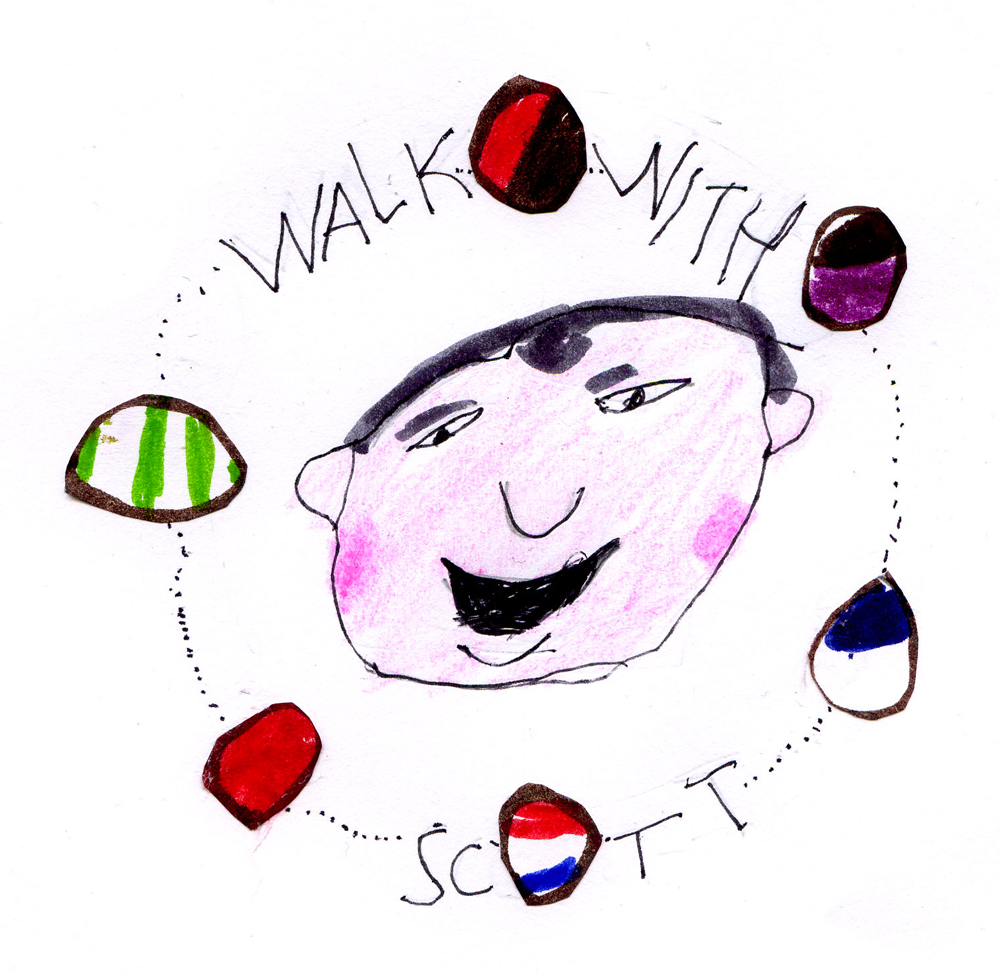 """Walk with Scott"" logo by Jack Henderson"